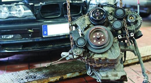 Motor-Schaden